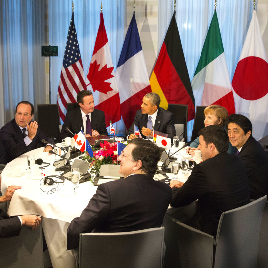 Roundtable of the G7 summit in The Hague on 24th of March 2014.