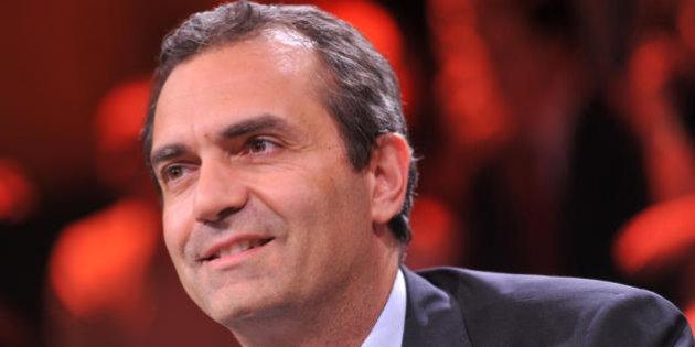 trasmissione televisiva Ballarò, nella foto Luigi De Magistris, sindaco di Napoli