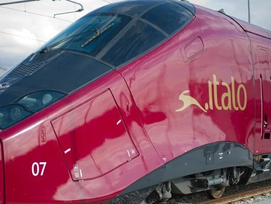 A high speed.italo AGV NTV train is seen prior to its launch in Italy December 9, 2011. Founded in 2006 as the European Union moved to open up rail transport to market competition, NTV has invested 1 billion euros ($1.3 billion) to shake up train travel in Italy with the promise of fast journeys and deluxe service under the brand name Italo by March 2012.  REUTERS/Alstom Partners/handout (ITALY - Tags: TRANSPORT TRAVEL BUSINESS) NO ARCHIVES. FOR EDITORIAL USE ONLY. NOT FOR SALE FOR MARKETING OR ADVERTISING CAMPAIGNS. THIS IMAGE HAS BEEN SUPPLIED BY A THIRD PARTY. IT IS DISTRIBUTED, EXACTLY AS RECEIVED BY REUTERS, AS A SERVICE TO CLIENTS
