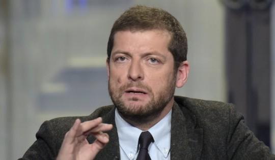 18/01/2016 Roma. Rai. Trasmissione televisiva Porta a Porta. Nella foto Andrea Romano PD
