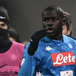 Napoli's Senegalese defender Kalidou Koulibaly reacts after receiving a red card during the Italian Serie A football match Inter Milan vs Napoli on December 26, 2018 at the San Siro stadium in Milan. (Photo by Marco BERTORELLO / AFP)        (Photo credit should read MARCO BERTORELLO/AFP/Getty Images)