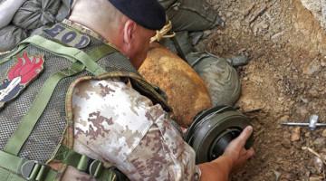 Rimozione ordigni bellici Reggimento Brigata Aosta